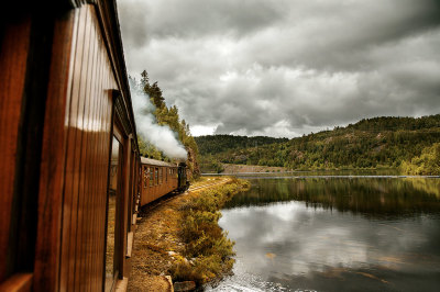 Un vecchio treno a vapore Norvegese