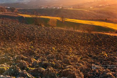 Passo Del Carmine - I campi lavorati in attesa dell primavera
