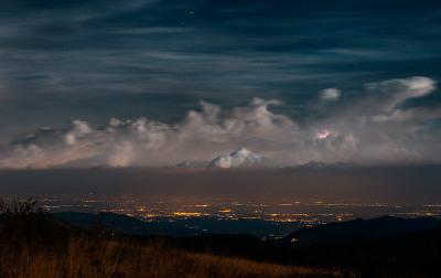 Notte di temporali sulla pianura padana