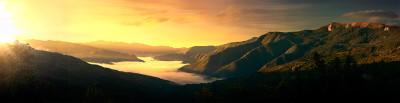 Il Monte Lesima e la Val Trebbia all'alba