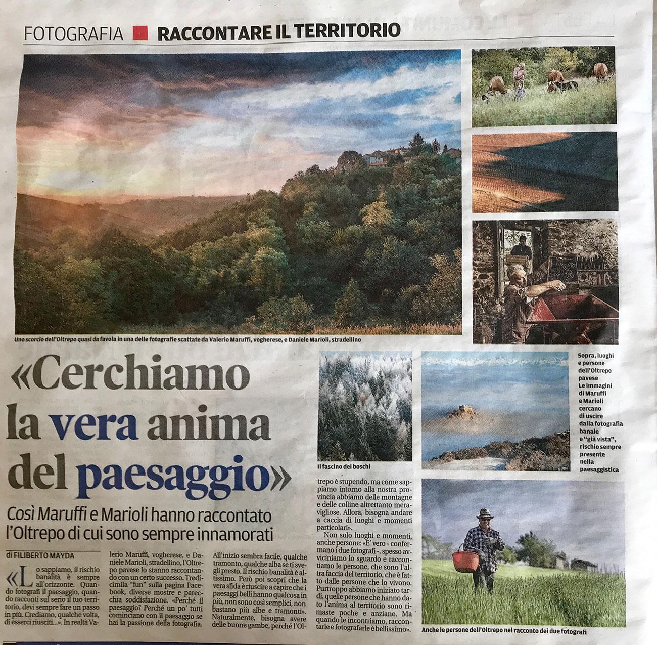 Articolo fotografia paesaggio oltrepò marioli maruffi