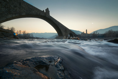 Il Ponte Gobbo, o Ponte del Diavolo, a Bobbio